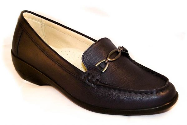 Ellen navy EE leather moccasin